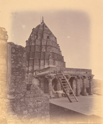Mandapa and tower of the Omkareshvara Temple, Mandhata, Nimar District